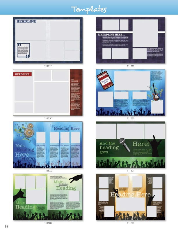 17 best images about clipart backgrounds on pinterest for Yearbook page template free