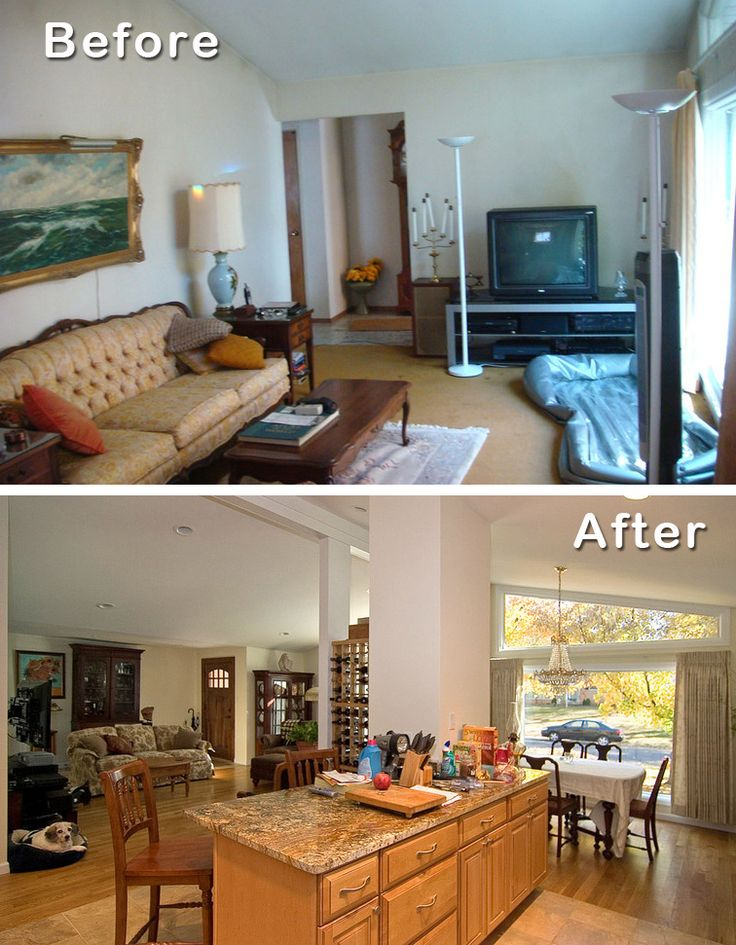 #2: Knock down walls for open floor plan.  5 Reasons to Remodel a Ranch House http://www.mosbybuildingarts.com/blog/2013/09/26/5-reasons-to-remodel-a-ranch-house/