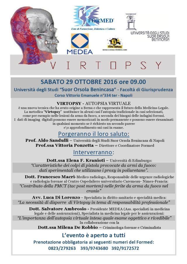 Il Formed di Caserta presenta Virtopsy, l'autopsia virtuale applicata alla Balistica forense a cura di Redazione - http://www.vivicasagiove.it/notizie/formed-caserta-presenta-virtopsy-lautopsia-virtuale-applicata-alla-balistica-forense/