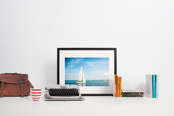 Sail boat, Sailing, blue, lake, perfect weekend. For Sailor. For him. For her. by Anovva on Etsy