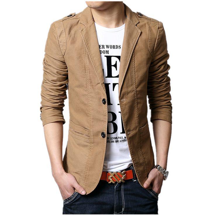 Cheap 2016 autunno nuovi uomini giacca modo sottile giacca sportiva casuale per  Uomini mens di marca del vestito del…