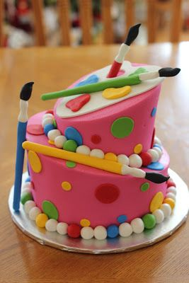 Best 25+ Art birthday cake ideas on Pinterest Paint ...