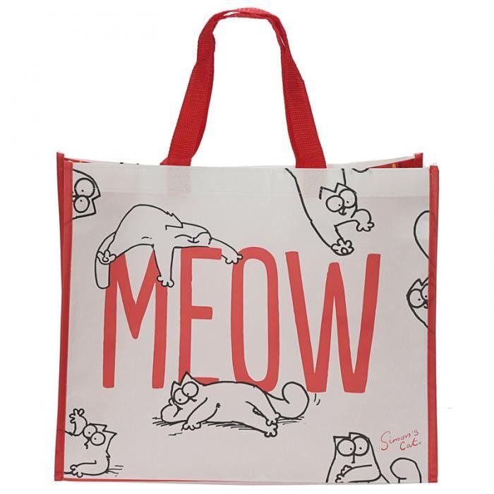 Simon/'s Cat Design Cotton Zip Up Shopper Shopping Bag Ladies Handbag Gym Office
