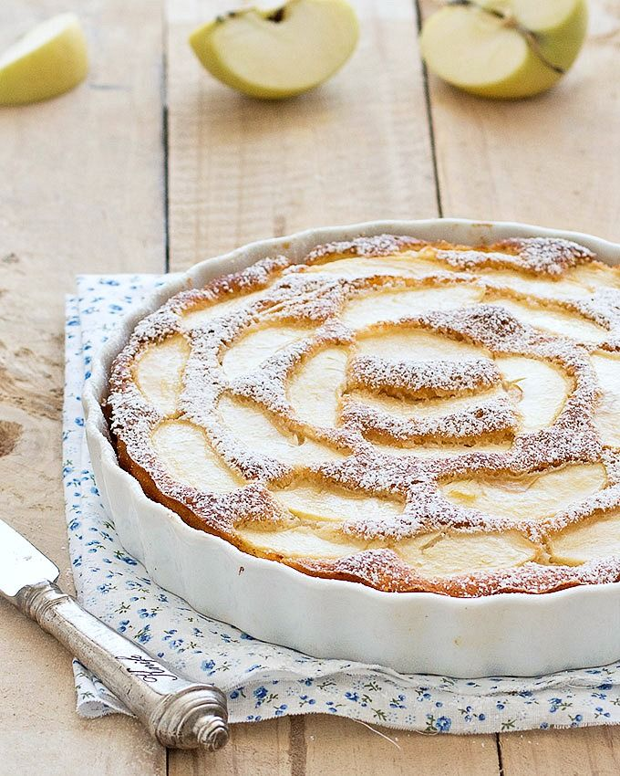 This low fat apple cake is super moist, flavorful and delicious! Plus, it's really low in calories due to the fact there is no butter or oil.