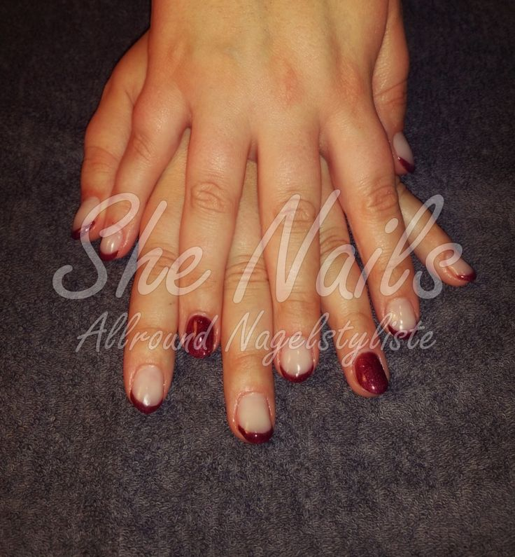 Red wine French van Acryl #nails