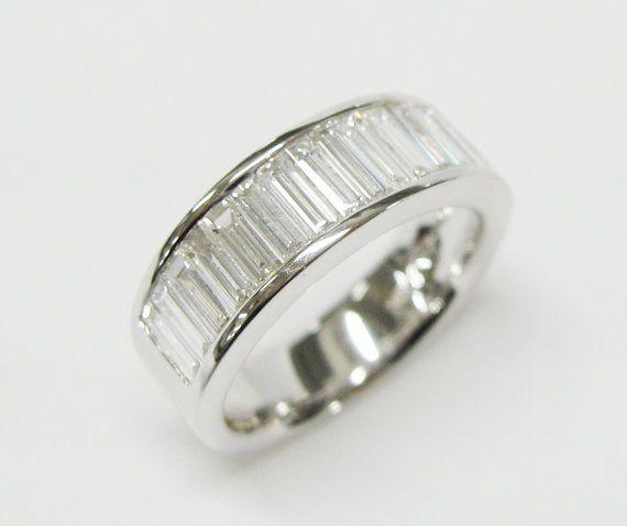 t Baguette Emerald Cut Diamond Ring