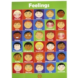 Help increase and reinforce children's feelings vocabulary with this colourful poster.