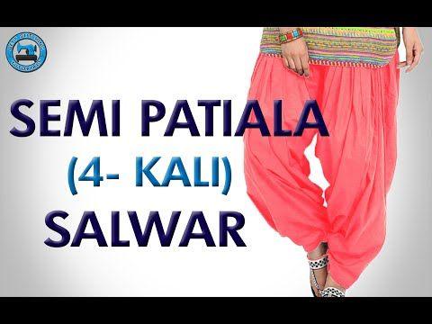 Semi Patiala Salwar (4- Kali) - YouTube