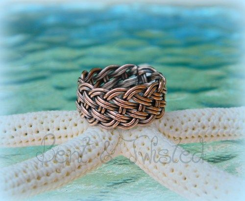 12 Strand Woven Ring - Statement Ring - Wide Wedding Band | BentNTwistedCreations - Jewelry on ArtFire
