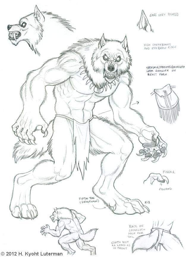 Skin Walker Beast Form by kyoht.deviantart.com on @deviantART