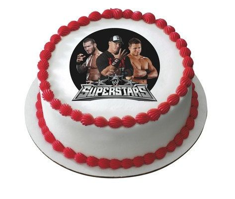 Wwe Wrestlers Edible Image Cake Topper Frosting By