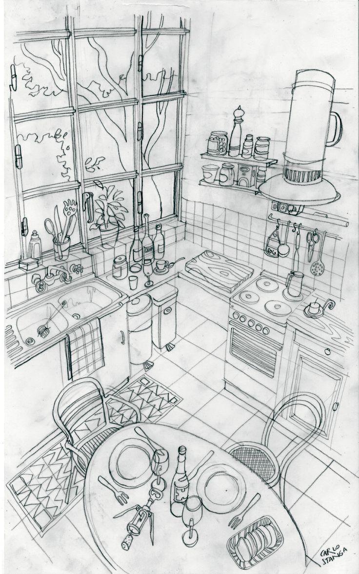 Mapei Kitchen sketch http://www.carlostanga.com