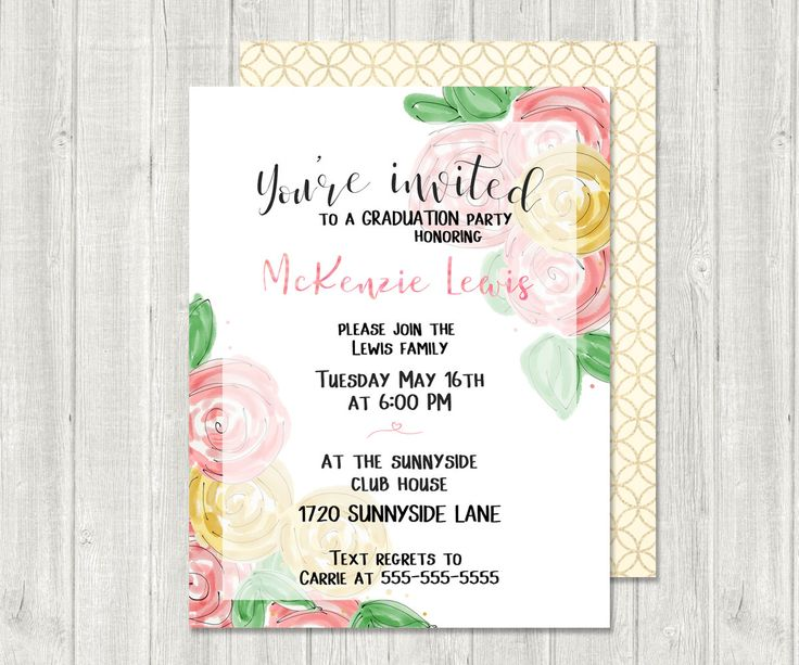 simple party invitation envelopes included shower invitation luncheon party invitation personalized digital download or printed invitations