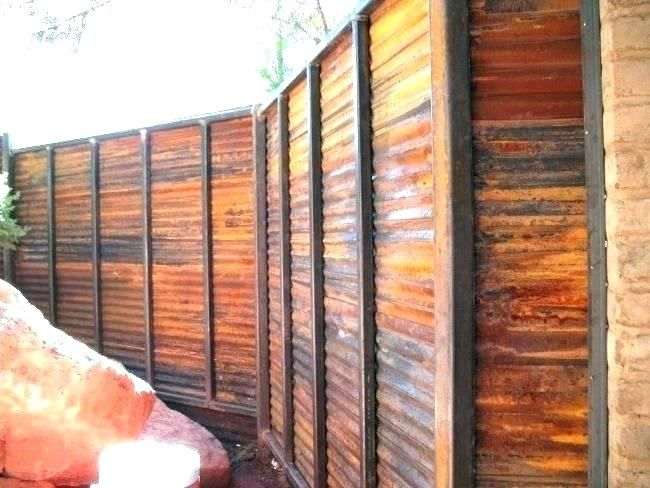 Corrugated Privacy Fence Corrugated Metal Fence Sheet Metal Fence Metal Fence