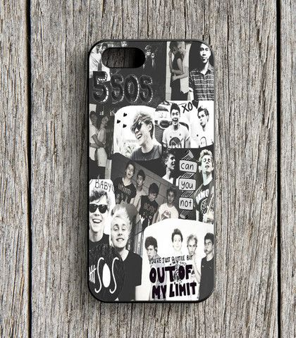 5 Second Of Summer Collage Black And White iPhone 5 | 5S Case