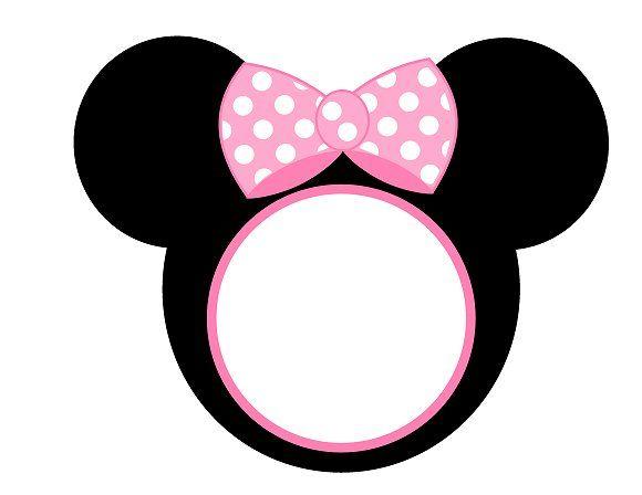 Imprimibles Minnie rosa.