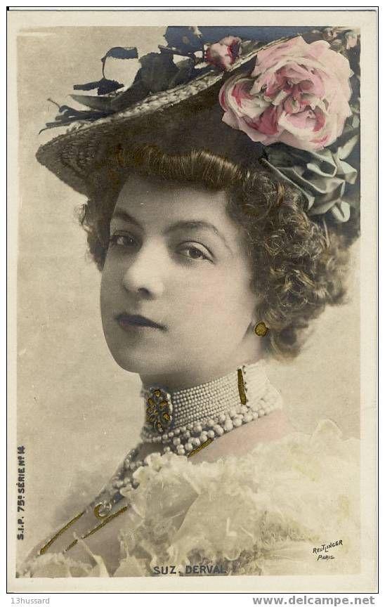 Suzanne Derval, artiste de Music hall et Demi-mondaine.