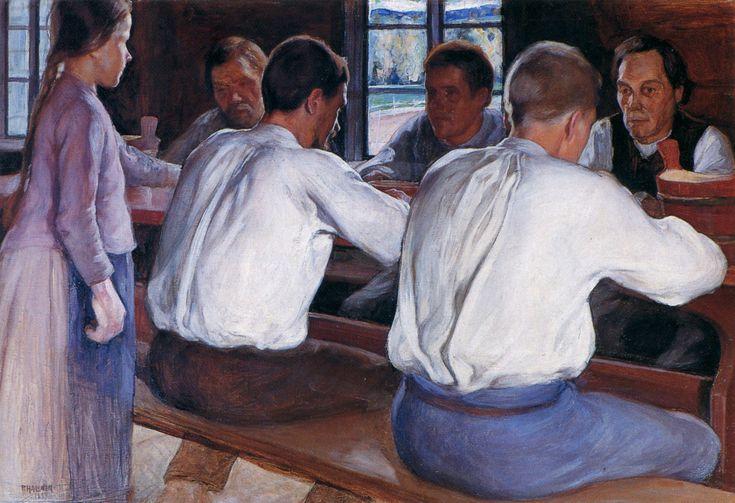 Pekka Halonen, Ateria, 1899, The Life and Art of Pekka Halonen - http://www.alternativefinland.com/art-pekka-halonen/