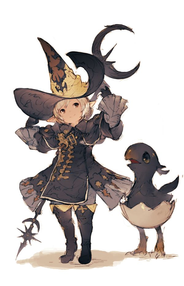 Witch and chocobo