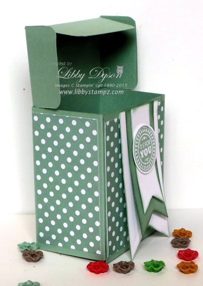 Gift Bag Punch Board Tilt Top Lid Box - includes video tutorial