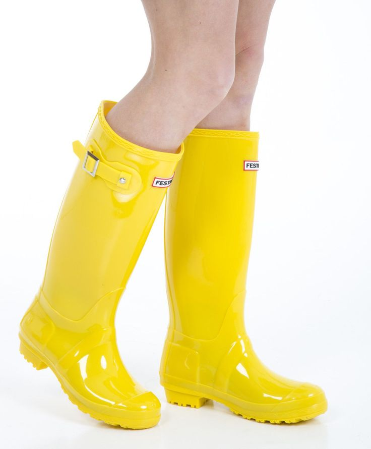 Women'S Wellies - Ladies Yellow Wellington Boots - Size 7 Uk - Eu 41