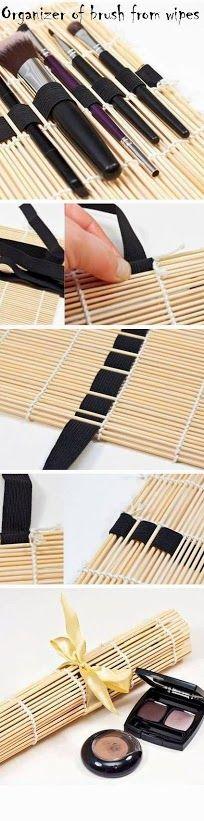 Make up brush storage