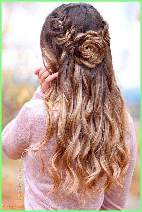 50+ Langes Haar - Süße Frisuren für Abschlussball # Abschlussball # Frisuren #cute # AbschlussballFrisurenfü