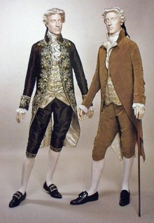 18th Century- Mens Fashion - Top Coat