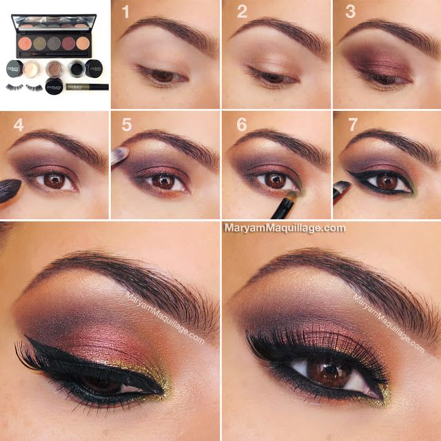 Autumn Smokey Eye Pictorial-I think you could do this with Lorac, substituting the green with the gold-or half baked from Naked