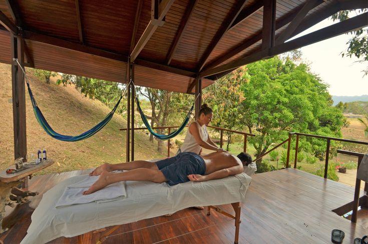 Outdoor massage at Vista Guapa Surf Camp!