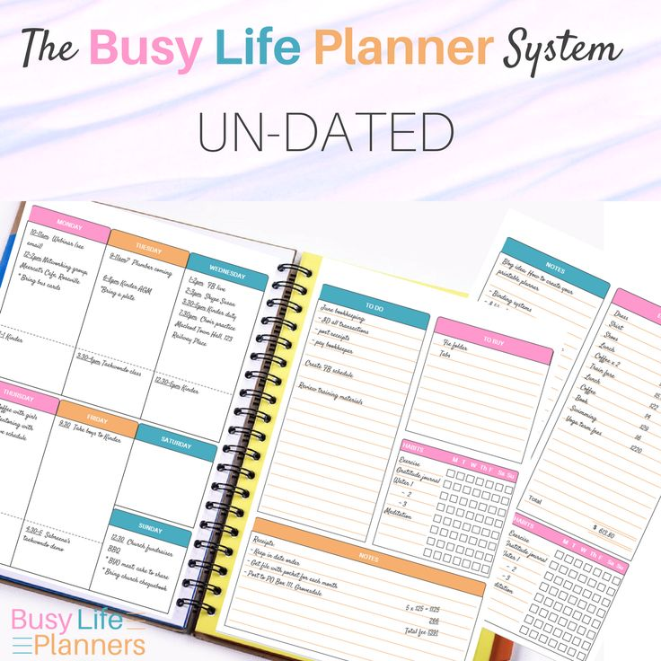 The undated Busy Life Planner system - yearly and monthly calendar, weekly planner, journal pages, to do's, etc. With lots of layout choices plus editable headers for true versatility.