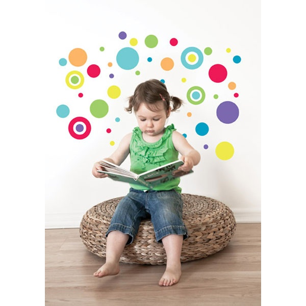 Bright Coloured Dots Forwalls Wall Stickers - $33.25 : Bellas Little Ones Australia, ErgoBaby Carrier Nursery Wall Stickers Kids Wall Decals Manduca Baby Carrier