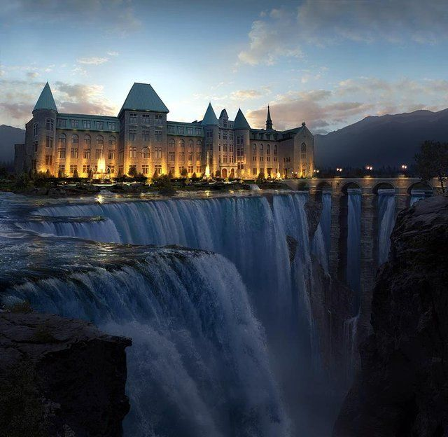 .: De Valleyfield, Quebec Canada,  Dike,  Dyke, The Edge, Colleges De, Holidays Destinations, Niagara Fall, Matte Paintings