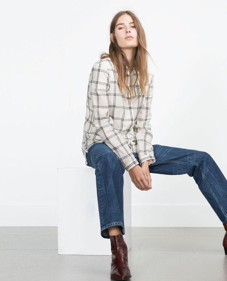1000 id es propos de chemise femme zara sur pinterest. Black Bedroom Furniture Sets. Home Design Ideas