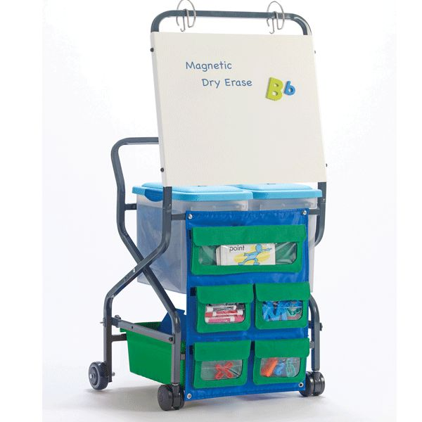 Developed in partnership with Fountas & Pinnell (creators of the Heinemann Leveled Literacy Intervention Program) this compact, folding Trolley is the perfect organizer for daily Literacy Intervention Programs and other traveling educator's needs.