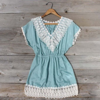 Openwork Blouse in Mint...