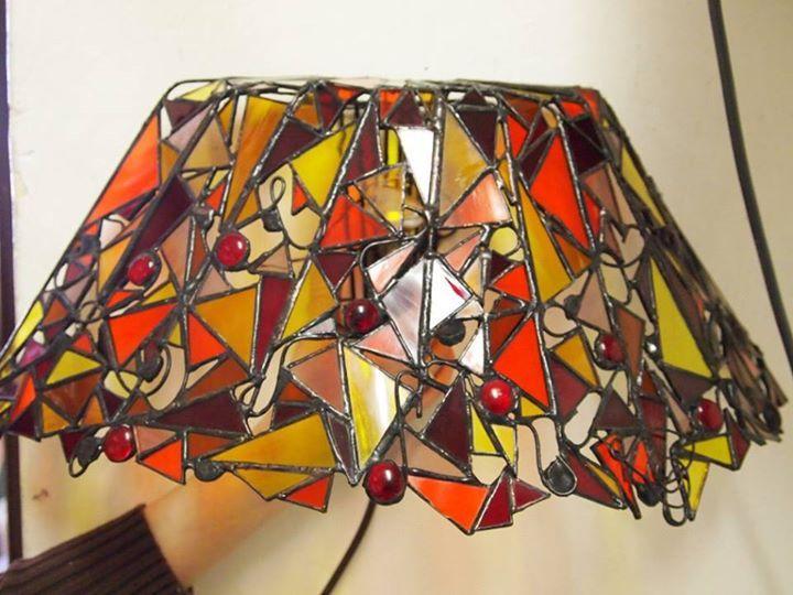 vitrážna lampa