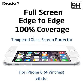 Daswise 2015 Full Screen Anti-scratch Tempered Glass Protectors with Curved Edge