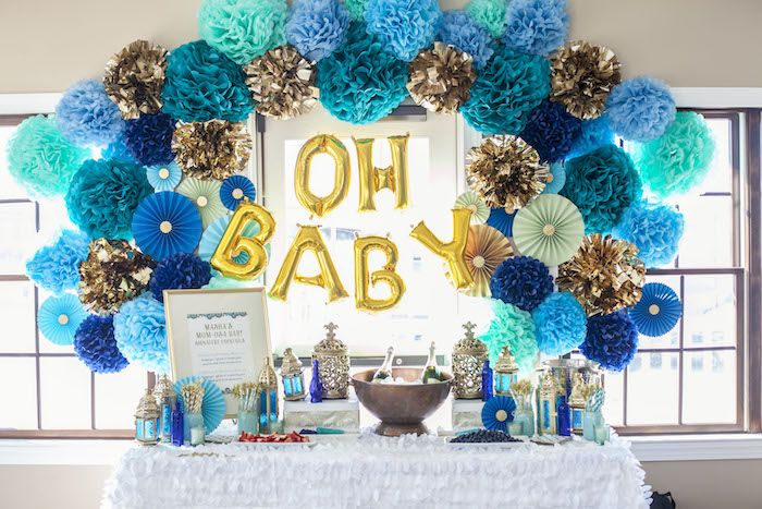 Indian Inspired Baby Shower Kara S Party Ideas Indian Baby Shower Decorations Baby Shower Party Decorations Baby Shower Decorations