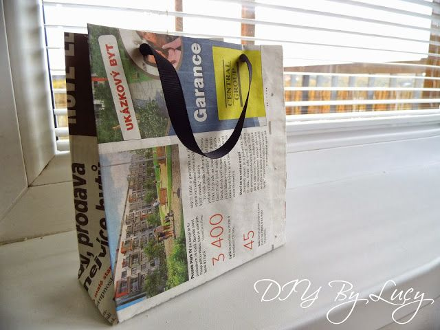 DIY By Lucy: papírová taška / paper bag