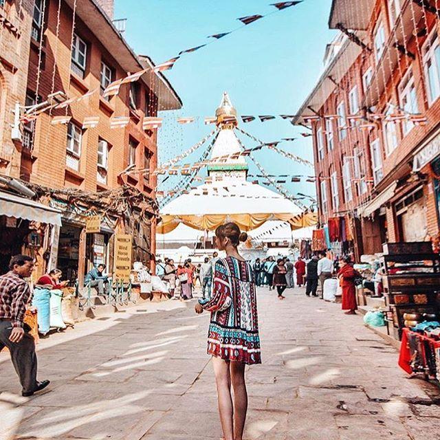 Kathmandu, Nepal.  #Kathmandu - #Nepal  Credit: @taramilktea