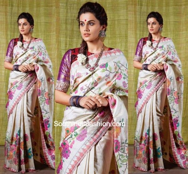 Tapsee Pannu in Gaurang Shah Paithani Saree photo