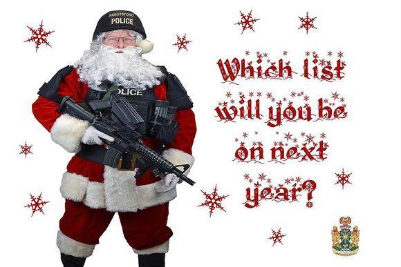 Poliisi lähettää gangstereille joulutervehdyksiä Kanadassa