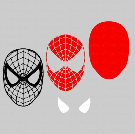Spiderman Svg Spiderman Face Svg Silhouette Cut Files