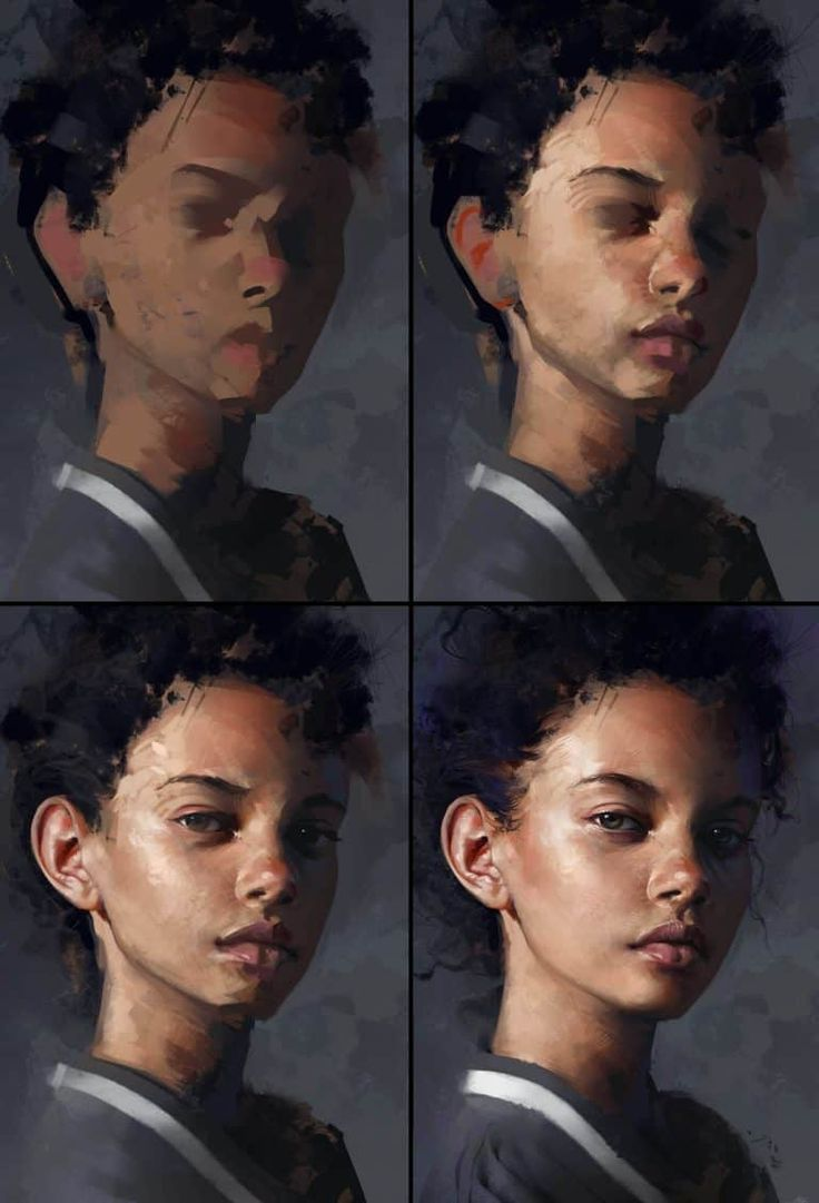 How To Paint These 21 Digital Portraits (Step-By-Step)