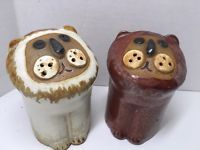 "Vintgage Takahashi LION Stylized Salt and Pepper Shakers Large 4"" Japan"