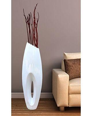 Uniquewise Uniquewise(TM) Modern White Large Floor Vase - 40 Inch from Amazon | BHG.com Shop