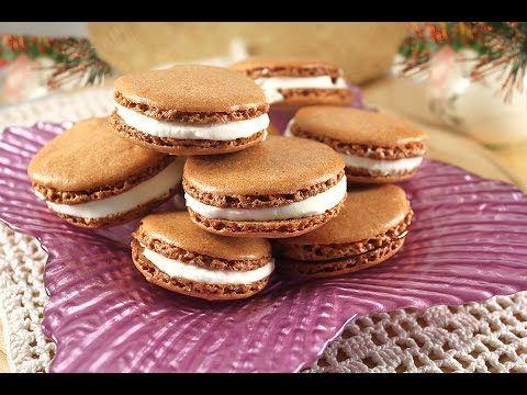 Шоколадные МАКАРОНС или МАКАРУНЫ.  Простой Домашний Рецепт
