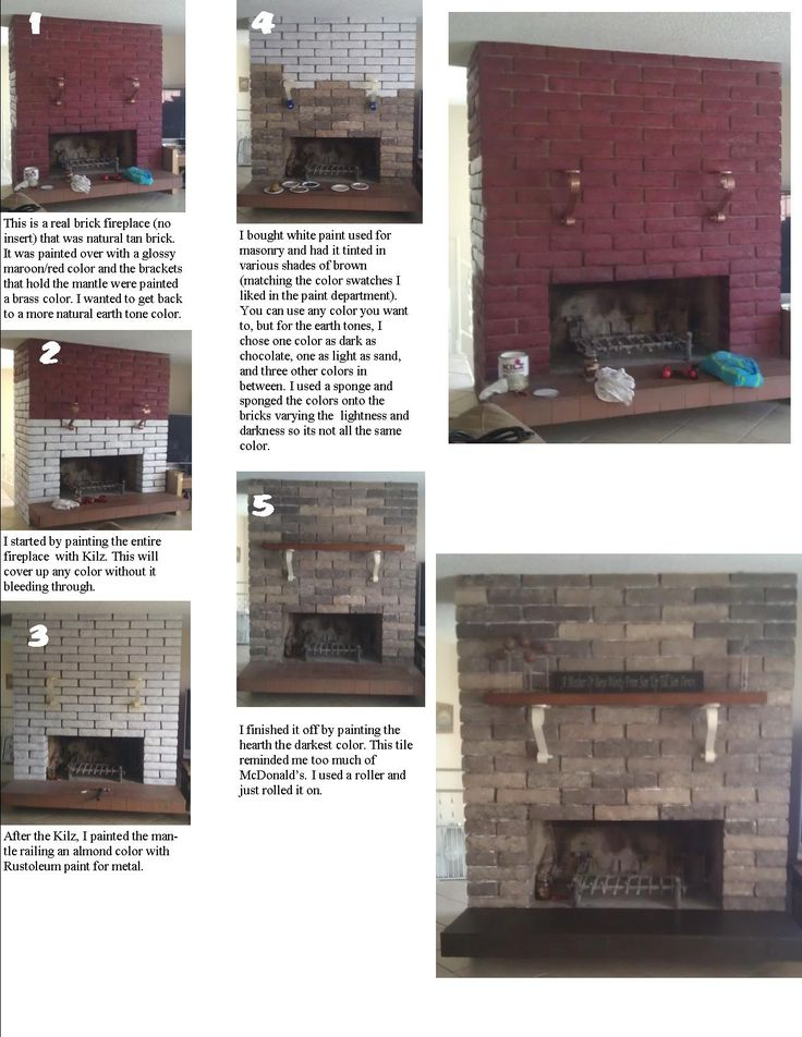 Refinishing A Brick Fireplace That Was Painted An Ugly