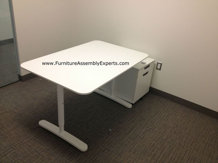 ikea bekant office desk and galant file cabinets assembled